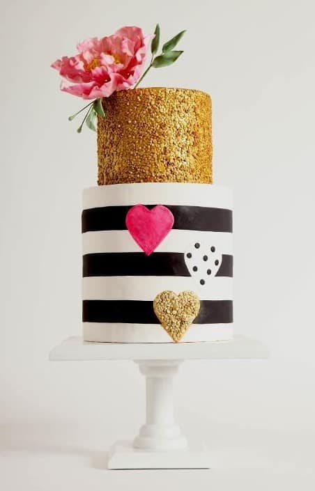Gold Sequined cake
