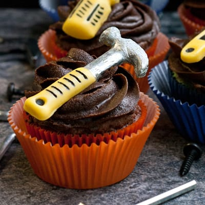 Manly Handyman Tool Cupcakes