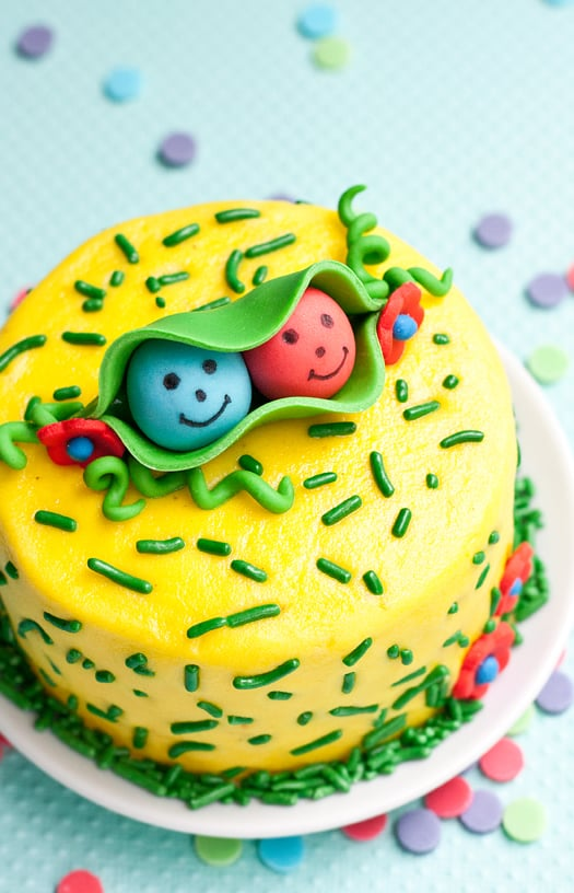 two peas in a cake