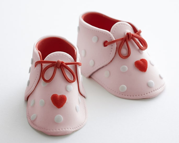 Plastic Baby Shoes For Cake Topper