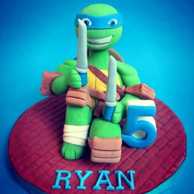 Ninja Turtle Fondant Cake Toppers