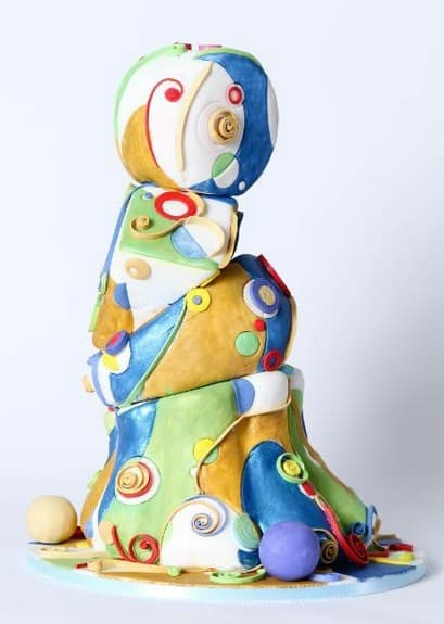 Modern Crooked Cake