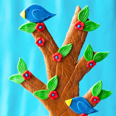 How to make a modeling chocolate tree cake topper