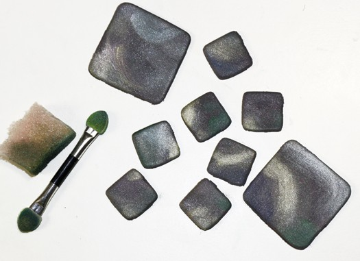 how to make multicolored diamond tiles 4