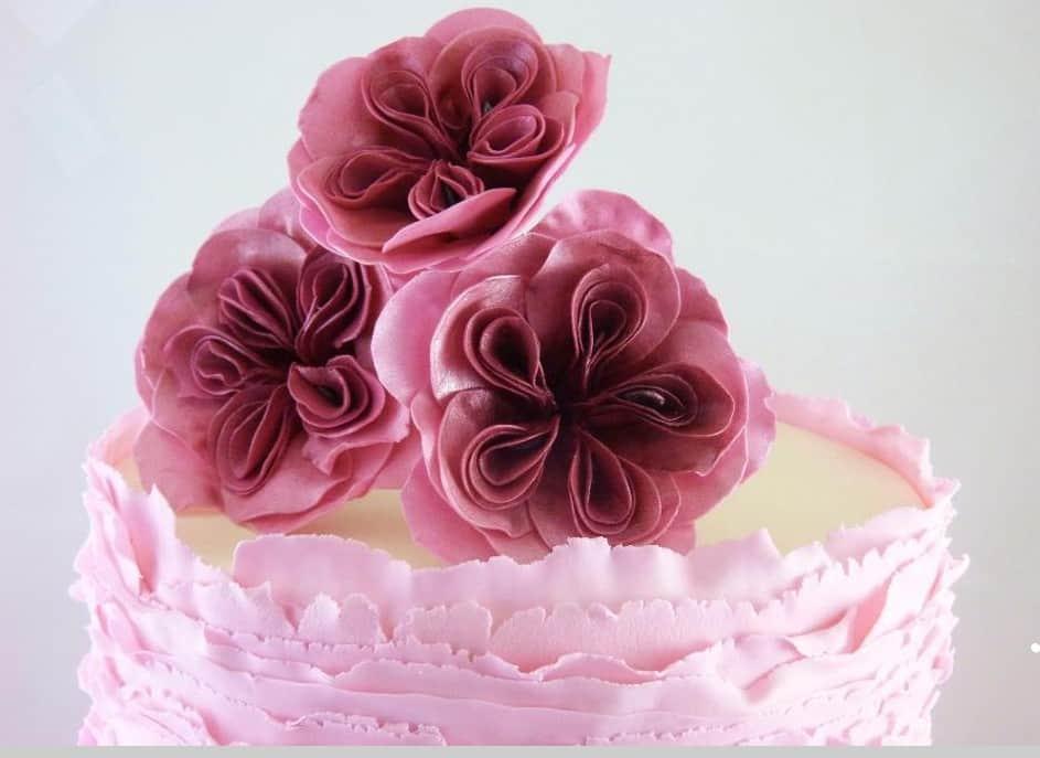 Fondant Frills Cabbage Roses
