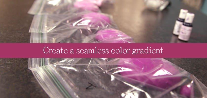 Fondant Frills Color Gradient
