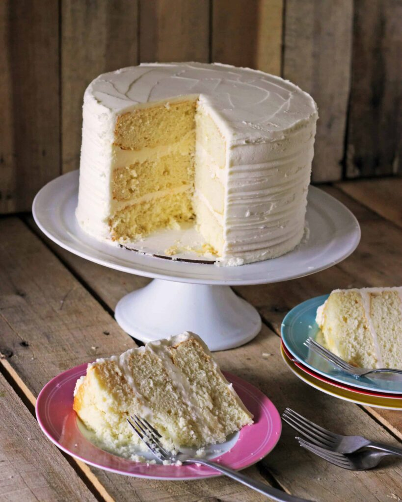 White Almond Sour Cream Cake Using Cake Mix