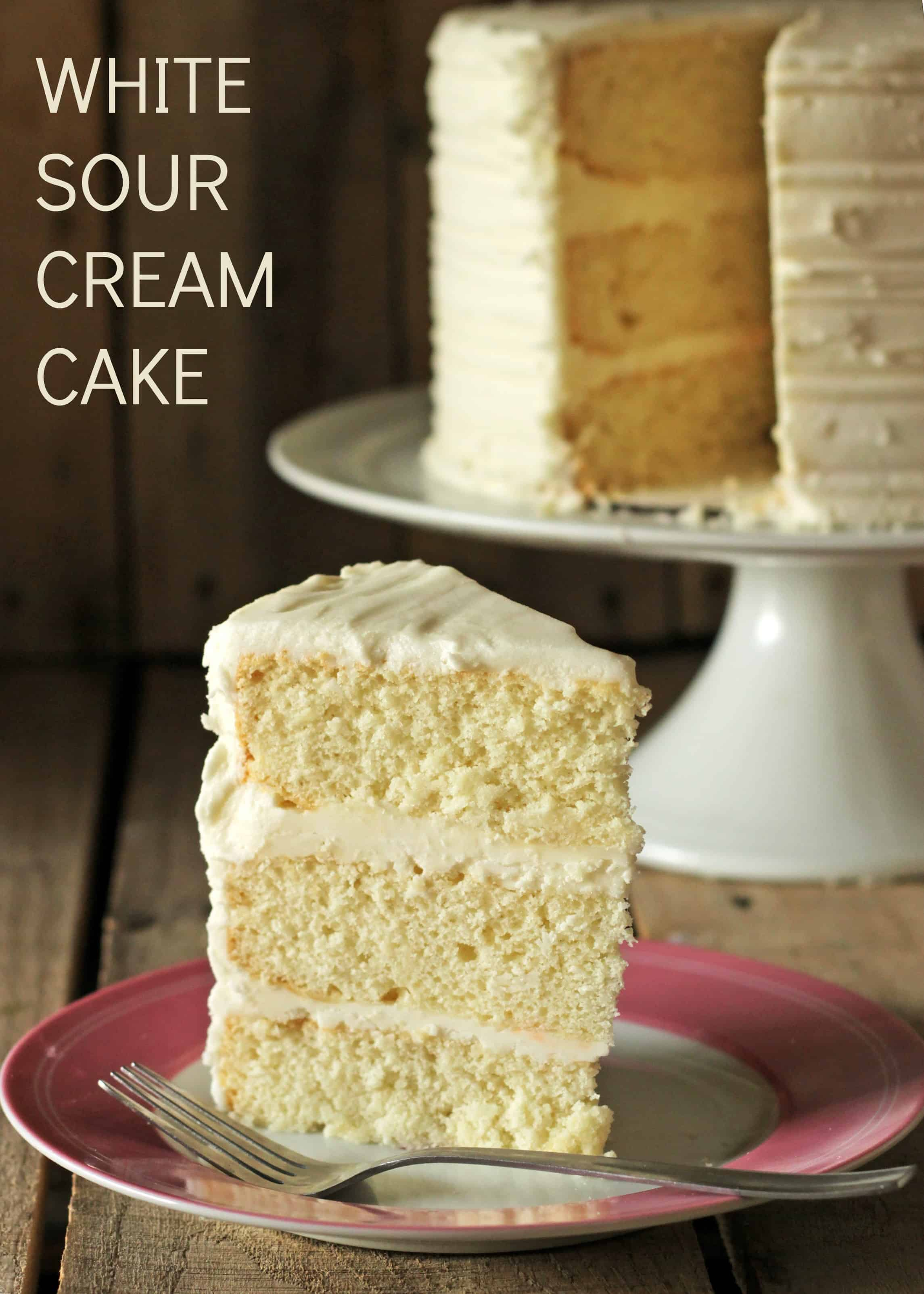 White Sour Cream Cake Recipe