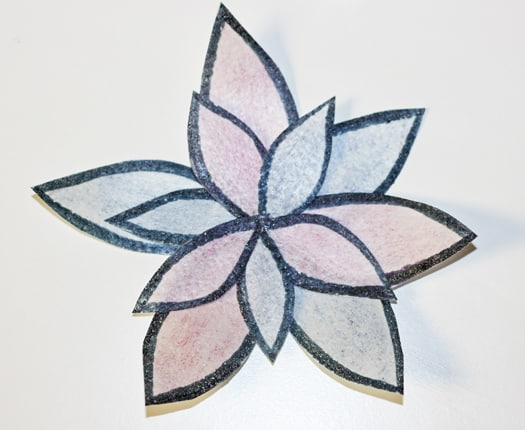 easy and bold wafer paper flower 9
