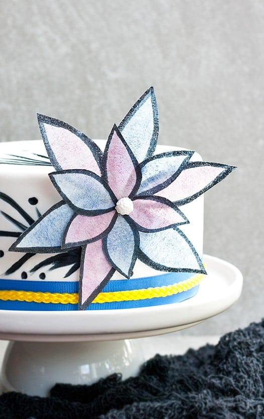 easy and bold wafer paper flower tutorial 03