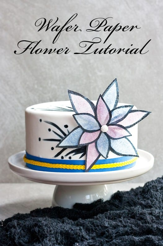 easy and bold wafer paper flower tutorial 04