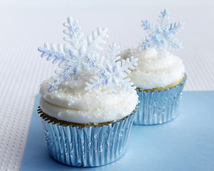 Frozen Cupcakes Snowflake How To Make Sparkly Sn...