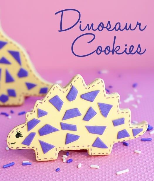 cute dinosaur cookies 2