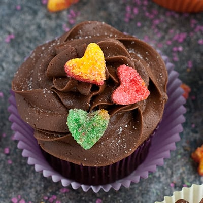 How To Make Sugared Heart Cupcake Toppers