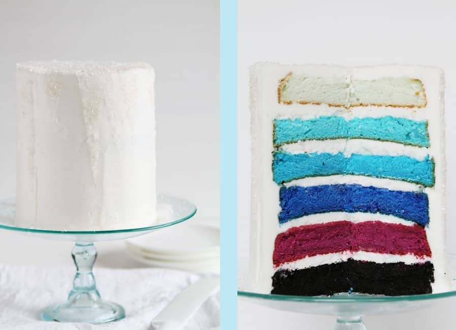 IAmBaker-Frozen inspired layered cake