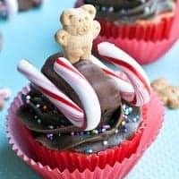 teddy sled cupcakes