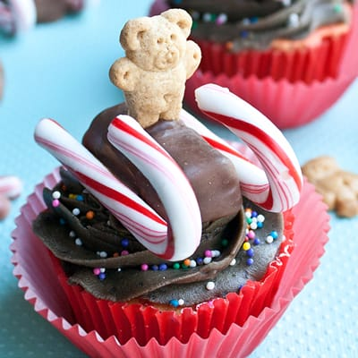 How To Make Teddy Sled Cupcakes