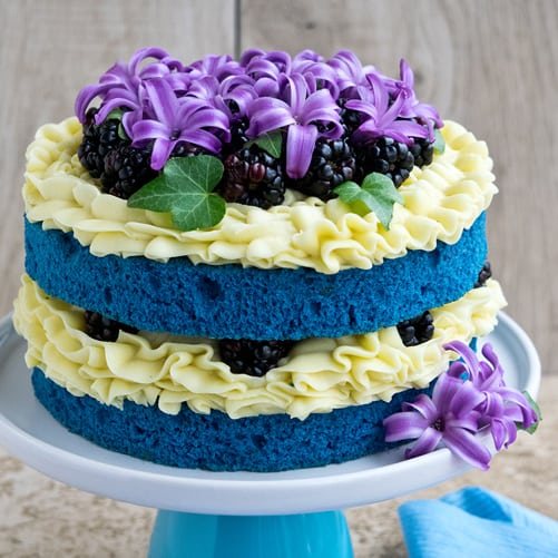 How To Make A Blue Velvet Naked Cake