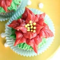 how to make poinsettia cupcakes