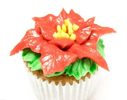 red poinsettia cupcakes 9