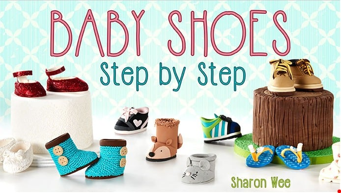 Baby Shoes Cake Toppers