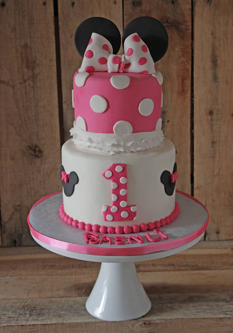 How To Make A Minnie Mouse Cake Topper