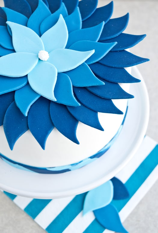 blue ombre cake 0