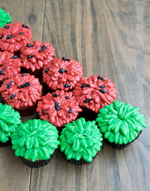 watermelon cupcake icing
