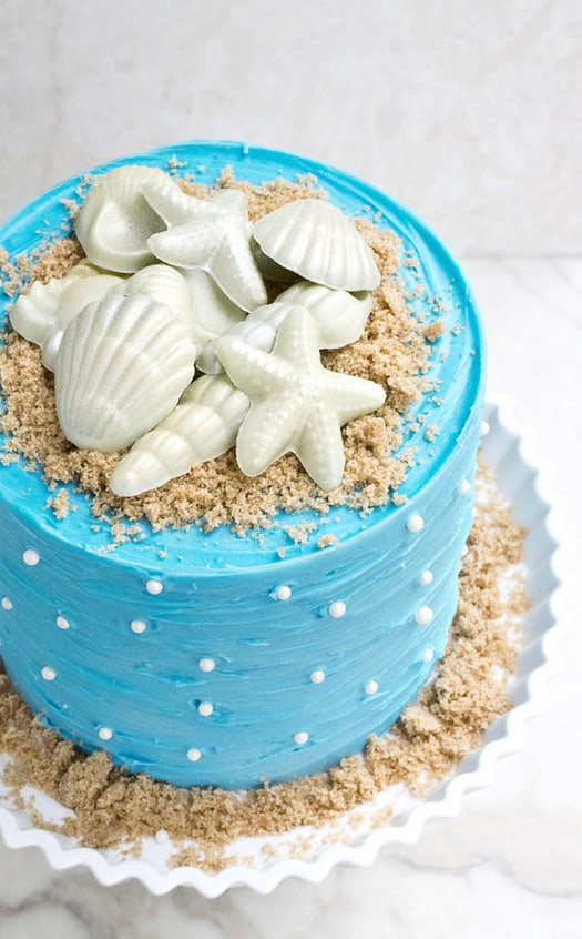 beach themed cake 1