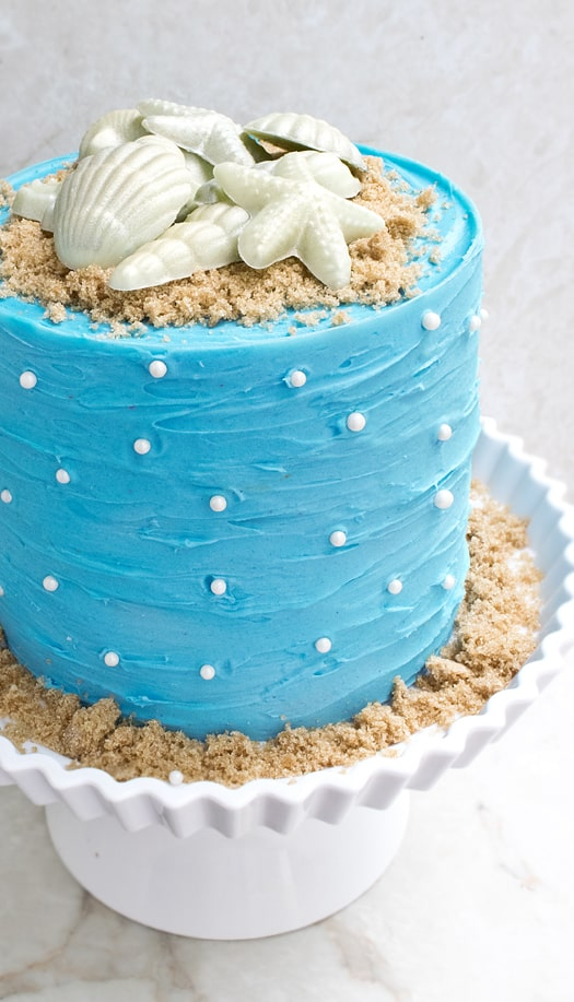 beach themed cake 2
