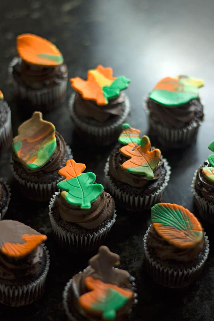 How To Make Fall Leaf Cupcake Toppers
