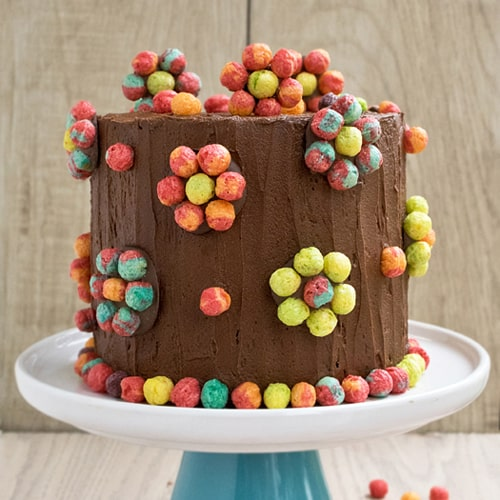 Colorful Cereal Cake