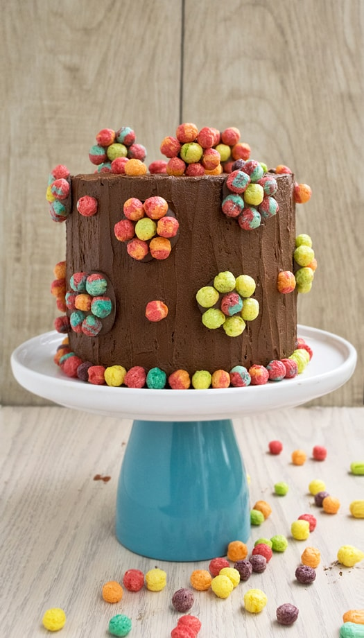 colorful cereal cake 1