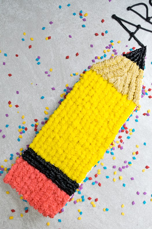 pencil cake 1
