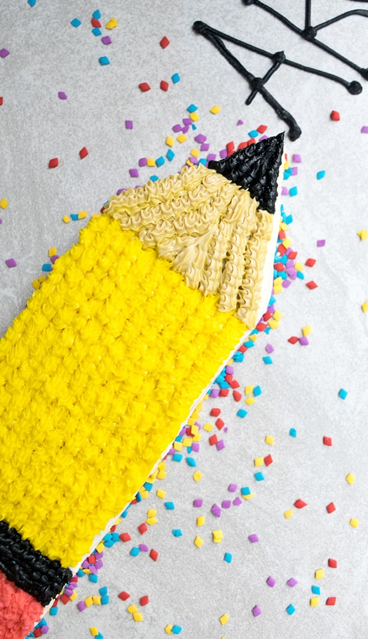 pencil cake 2