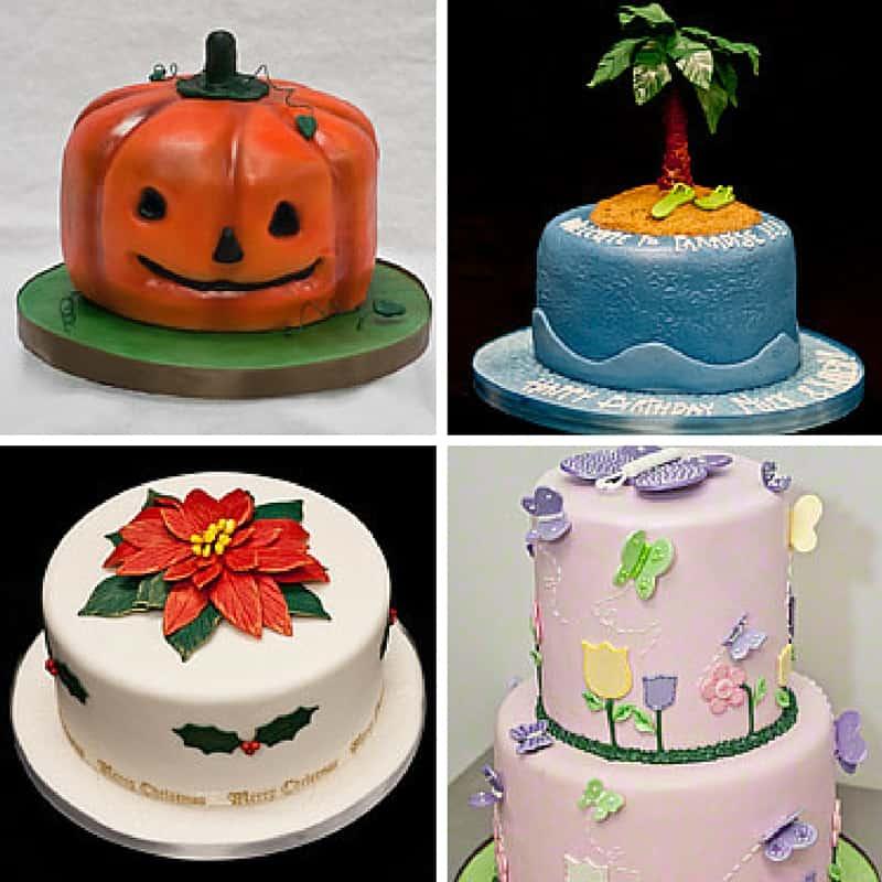 seasonal fondant cakes
