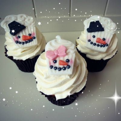 How to Make Snowman Cupcake Toppers