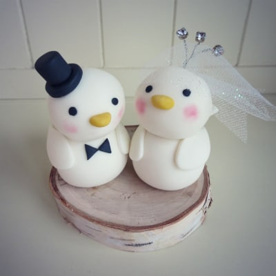 How to Make a Love Birds Wedding Cake Topper