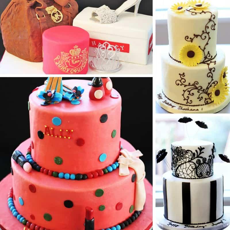 women's birthday cakes