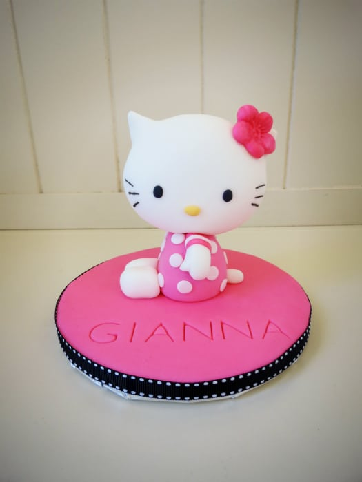 How To Make Edible Hello Kitty Cake Toppers