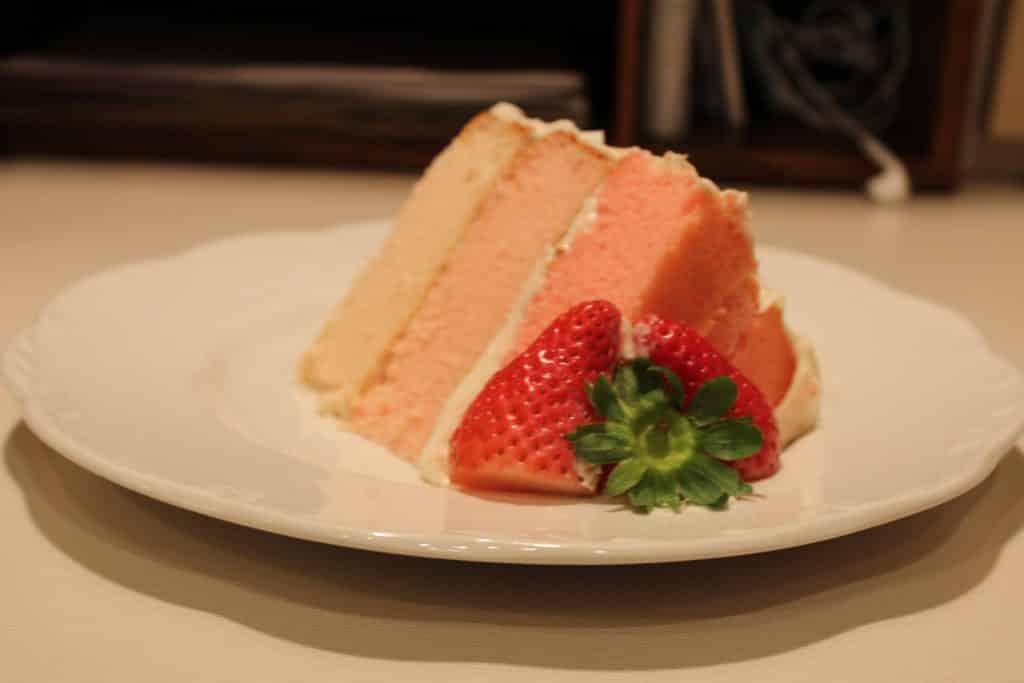 Delicious Strawberry Ombre Cake
