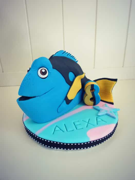 How to make a Finding Dory cake topper CakeJournalcom
