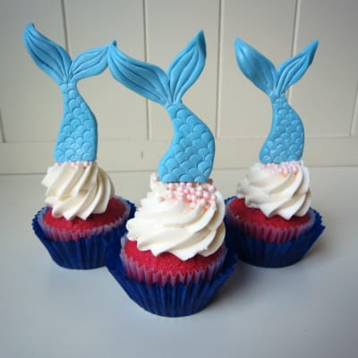 Edible Cake Images Nj : How to Make Mermaid Tail Cupcake Toppers   CakeJournal.com