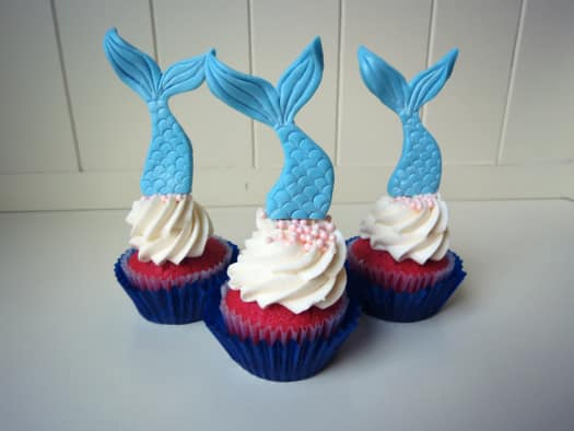 How to Make Mermaid Tail Cupcake Toppers CakeJournalcom