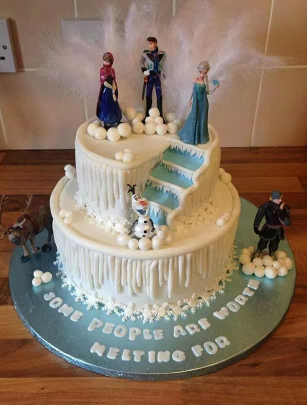 Remarkable Best Frozen Cake Ideas For An Amazing Frozen Party Cakejournal Com Birthday Cards Printable Trancafe Filternl