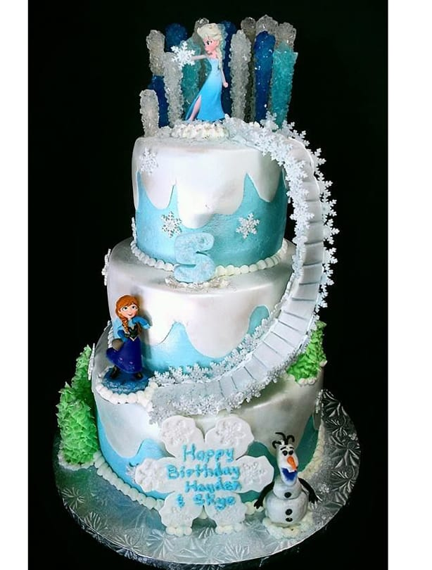 frozen 3 tier cake