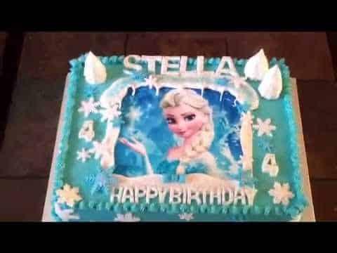 froze theme cake