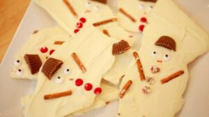 Melted Snowmen Chocolate Bark