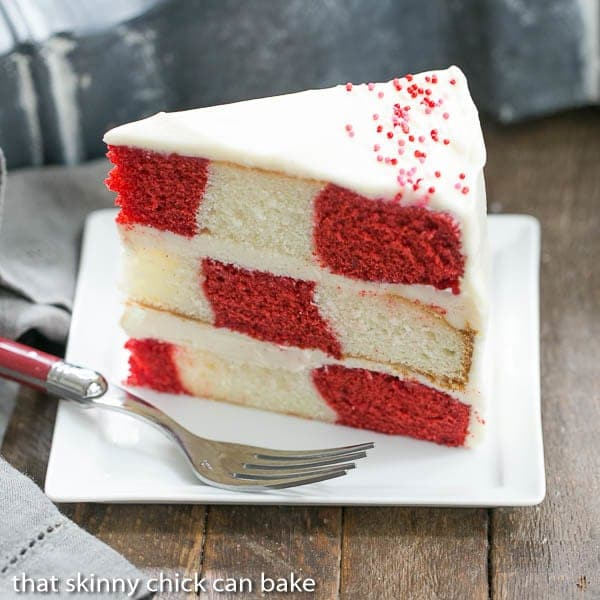 Checkerboard cakes from That Skinny Chick Can Bake