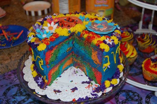 Layered Tie Dye Cakes